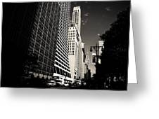 The Grace Building And The Chrysler Building - New York City Greeting Card
