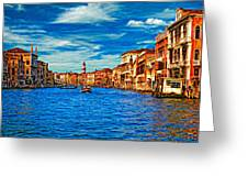 The Grand Canal Impasto Greeting Card