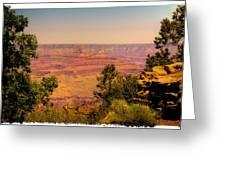 The Grand Canyon Vintage Americana Iv Greeting Card