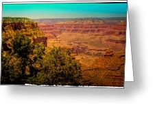 The Grand Canyon Vintage Americana Vii Greeting Card