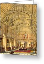 The Grand Hall, Biddington, Surrey Greeting Card