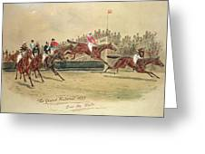 The Grand National Over The Water Greeting Card