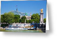The Grand Palais And The Alexandre Bridge Paris Greeting Card