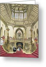 The Grand Staircase, Windsor Castle Greeting Card
