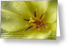 The Grass Withers The Flower Fades Greeting Card