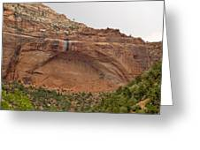 The Great Arch At Zion Natioal Park Greeting Card