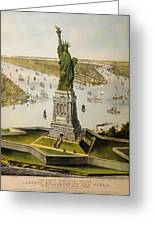 The Great Bartholdi Statue Greeting Card