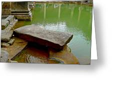 The Great Bath At Bath Greeting Card