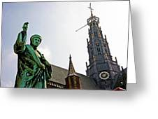 The Great Church Of Haarlem Greeting Card