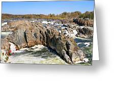 The Great Falls Of The Potomac Panorama Greeting Card