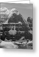 1m3752-bw-the Great North Face Of North Twin Greeting Card