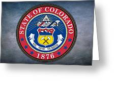 The Great Seal Of The State Of Colorado Greeting Card