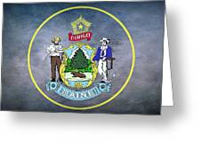 The Great Seal Of The State Of Maine  Greeting Card