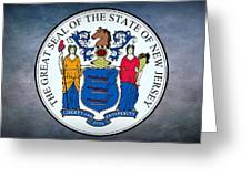 The Great Seal Of The State Of New Jersey Greeting Card