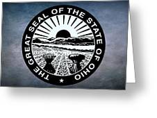 The Great Seal Of The State Of Ohio  Greeting Card