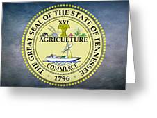 The Great Seal Of The State Of Tennessee Greeting Card