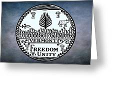 The Great Seal Of The State Of Vermont Greeting Card