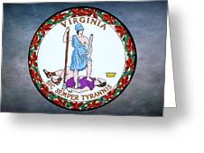 The Great Seal Of The State Of Virginia  Greeting Card