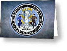 The Great Seal Of The State Of Wyoming Greeting Card