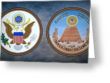 The Great Seal Of The United States Obverse And Reverse Greeting Card