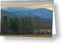 The Great Smoky Mountains From Cades Cove Greeting Card