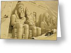 The Great Temple Of Abu Simbel Greeting Card