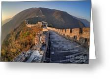 The Great Wall Of China Mutianyu China Greeting Card