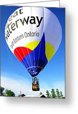 The Great Waterway Balloon Greeting Card