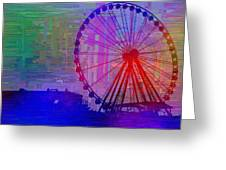 The Great  Wheel Cubed Greeting Card