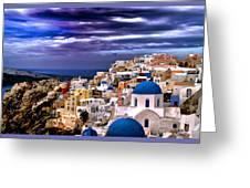 The Greek Isles Santorini Greeting Card