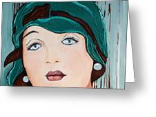 Green Cloche Greeting Card