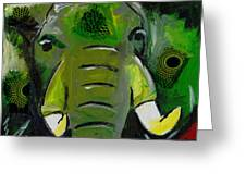 The Green Elephant In The Room Greeting Card