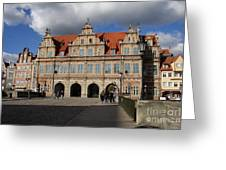 The Green Gate - Gdansk Greeting Card