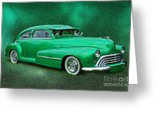 The Green Ghost Greeting Card