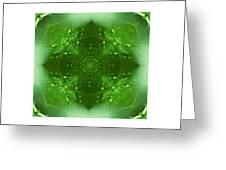The Green Jewel Of Nature Mandala Greeting Card