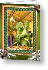 The Green Knight Christmas Card Greeting Card