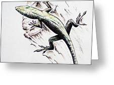 The Green Lizard Greeting Card