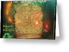The Green Man - Recycle Greeting Card