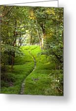 The Green Path Greeting Card
