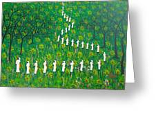 The  Green  Payages By Frantz Petion Greeting Card