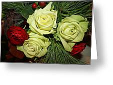 The Green Roses Of Winter Greeting Card