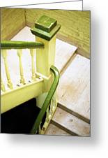 The Green Stairwell Greeting Card