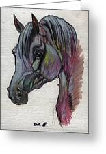 The Grey Horse Drawing 1 Greeting Card
