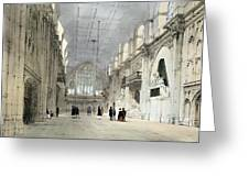 The Guildhall, Interior, From London As Greeting Card