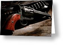 The Gun That Won The West Greeting Card