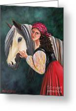 The Gypsy's Vanner Horse Greeting Card