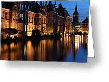 The Hague By Night Greeting Card