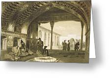 The Hall Of Mirrors In The Palace Greeting Card by Grigori Grigorevich Gagarin