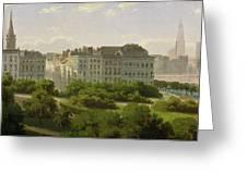 The Hamburg Kunsthalle And The Wallanlagen At The Glockengiesserwal Greeting Card