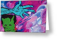 The Hand Of Frankenstein Greeting Card